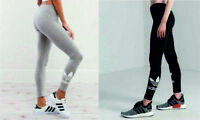Adidas Originals TRF Womens Fitness Gym Sports Leggings Black Grey 8 10 12 14
