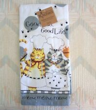 Cat Kitchen Terry Towel Kay Dee Happy Cat Pattern