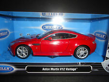 Welly Aston Martin V12 Vantage 2010 rouge 1/24