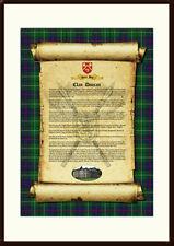 CLAN DUNCAN - Clan History, Tartan, Crest, Castle & Motto MOUNTED PRESENTATION