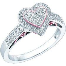 0.30ctw Diamond Heart Ring 10K Rose & White Gold