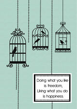 2018-2019 financial year diary green bird cages with quote A5