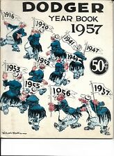 1957 Brooklyn Dodgers Yearbook Last Season Willard Mullin Cover NICE!!