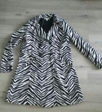 "Womens  ""Uniform JPR"" black/white animal print lined cotton trench coat Size M"