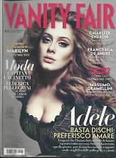 Vanity Fair Magazine Adele Charlize Theron Taylor Kitsch Marilyn Monroe 2012