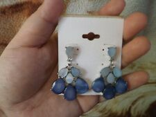 CLOSEOUT SALE! Imported From USA! Blue Chandelier Earrings #1