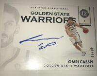 2017-18 NBA PANINI ENCASED OMRI CASSPI SCRIPTED SIGNATURES WARRIORS /99