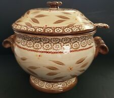 New listing Temptations By Tara 3.0Qt Old World Brown 3 Pc Soup Tureen Ovenware