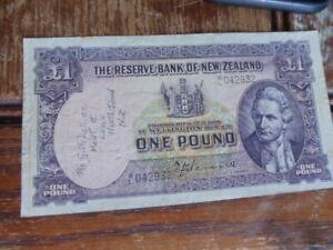 New Zealand 1 Pound Banknote 1940 to 1955