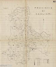 Provincia di Cagliari: Comuni nel 1938. Iglesias.Oristano. Anno XVI Era Fascista