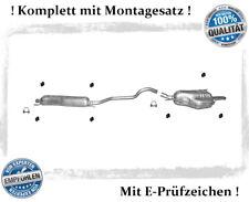 Auspuffanlage für Opel Zafira A 1.6 1.8 2.2 16V Bj.99-05 Auspuff Montagesatz