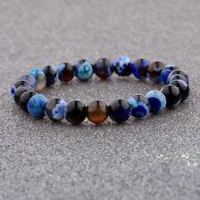 8MM Man Woman Fashion Mini Blue Beaded Cuff Charm Bangle Natural Stone Bracelets
