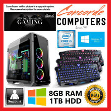 Intel i5 7400 3.0 GHz | 8GB | 1TB | Gaming Computer System Office Desktop PC