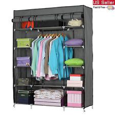 Gray 5-Layer 12-Compartment Non-woven Fabric Wardrobe Portable Closet