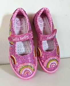 LELLI KELLY KIDS Embellished Mary Jane Girls Shoes Size 29 EU Pink
