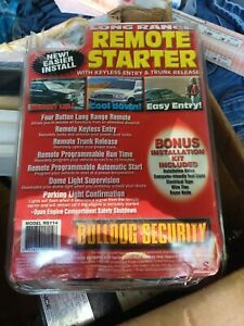 New BULLDOG SECURITY Remote Vehicle Car Starter System Model RS 114