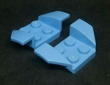 Lego Plate Car Mudguard 2x4 Swept [41854] - Light Blue x2