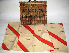 ANCIEN PANIER OSIER CHAMPAGNE MUMM & CO ET SA NAPPE BASKET WICKER TABLE COVERING