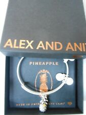Alex and Ani PINEAPPLE III Expandable Wire Bracelet Rafaelian Silver NWTBC