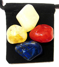 MENOPAUSE RELIEF Tumbled Crystal Healing Set =4 Stones +Pouch +Description Card
