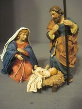 KURT ADLER THE HOLYLAND COLLECTION THE HOLY FAMILY RESIN FIGURES