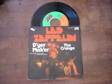 """LED ZEPPELIN D'yer mak'er- The crunge- 7""""/45t"""