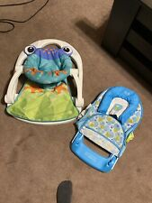 Fisher-Price Sit-Me-up Floor Seat & Bath Seat- Used