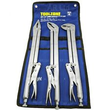 """Vice/Mole Grips with Extra Long Reach. Locking Vice Grip Plier Wrenches 15"""" long"""