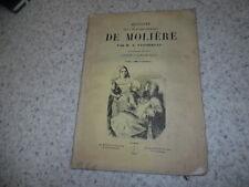 1851.Histoire de la vie et des ouvrages de Molière.Taschereau.Gérard Seguin