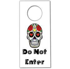 Sugar Skull Door Hanger (Pack of 12) Party Bag Fillers Boys Girls Teens Birthday