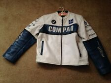 Vintage BMW Leather Jacket with Patches and Insignias Size S/M