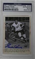 GORDIE HOWE SIGNED 2011 PARKHURST CHAMPIONS #103 PSA/DNA AUTHENTICATED