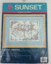 Sunset Carousel Threesome Counted Cross Stitch 13568 (1993) Dimensions Sealed