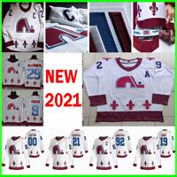 Colorado Avalanche 2021 Reverse Retro Jersey Hockey Nathan MacKinnon Mikko S-3XL