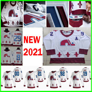 Colorado Avalanche 2021 Reverse Retro Jersey Hockey Nathan MacKinnon Mikko S-3XL