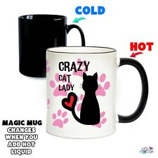 Crazy Cat Lady Magic Mug - Cute Funny Novelty Gift