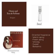Omnia by Bvlgari EDP:  5ml  Sample Spray Atomiser: 100% GENUINE