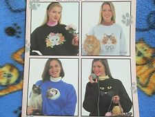 Leisure Arts Meow Mix Waste Canvas Counted Cross Stitch Leaflet - 10 Designs