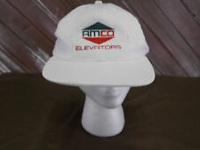 AMCO Elevators Hat Baseball Cap One White Size Strap Back