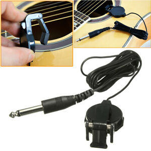 For Acoustic Guitar Ukulele Microphone Piezo Contact Pickup Clip Accessories