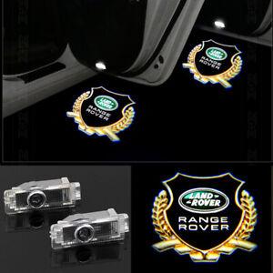 2Pcs LED New Logo door step courtesy laser projector light For Land Rover Sport