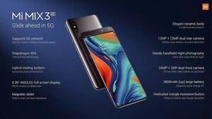 Xiaomi Mi MIX 3 5G - 128GB - Onyx Black - 6GB Ram (Unlocked) RPT: £849. 5G Ready