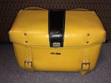Vintage Ski Doo 1968 Yellow Snowmobile Leather Saddle Bag Top Grain Gd 605/7
