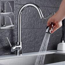 Cuisine moderne Pull Out robinet en laiton bassin évier mitigeur robinets chrome monobloc wniu