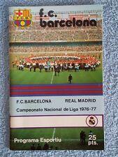 1976-Barcelona/Real Madrid Programme-LA LIGA - 76/77 - V.G condition