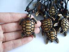 Wholesale Lot 1Pcs Brown Sea Turtle Pendant Necklace Adjustable
