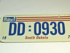 Vintage Mini Bike License Plate Wheaties General Mills Cereal  SOUTH DAKOTA 1978