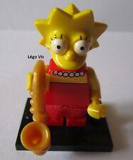 "Légo 71005 Minifig Figurine The Simpson ""Lisa"" + socle"