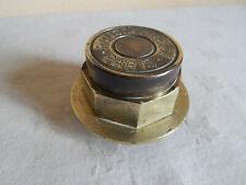 """Chapeau de roue / écrou en bronze """" Rousseau & Cie - Paris """""""