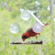*NEW PREMIUM Window Bird Feeder, Clear Acrylic, Suction Cups, 1-Way Viewing Film